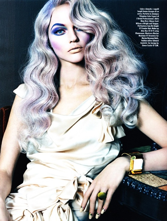 Sasha Pivovarova - Vogue Italian edition May 2010