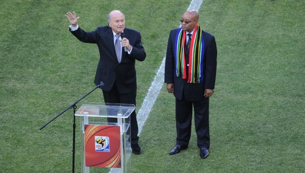 World Cup 2010 South Africa - Sepp Blatter and Jacob Zuma