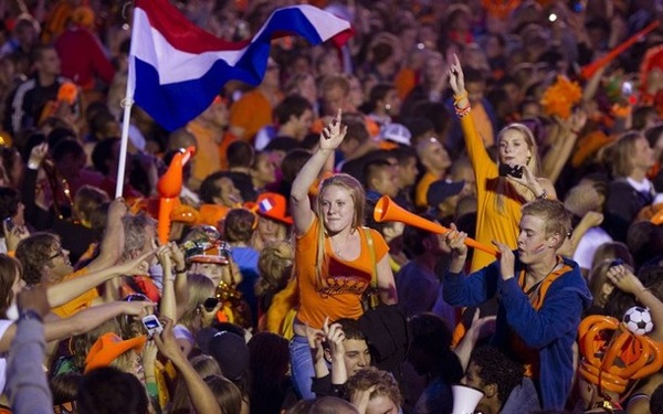 Dutch fans in Amsterdam