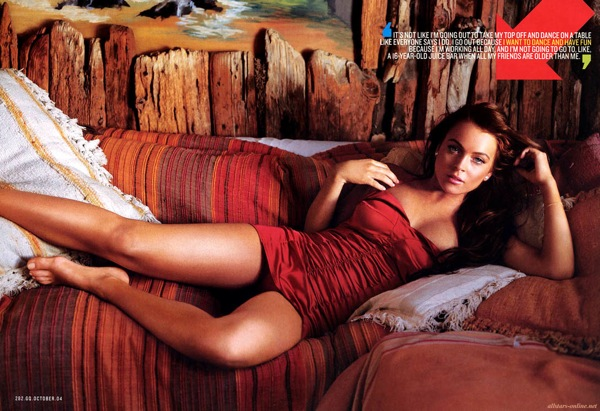 Linday Lohan photos - GQ USA October 2004 Issue