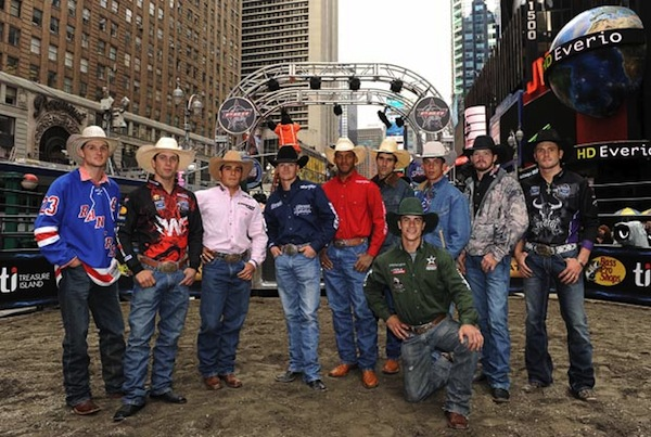PBR's Built Ford Tough Road To Las Vegas in Times Square