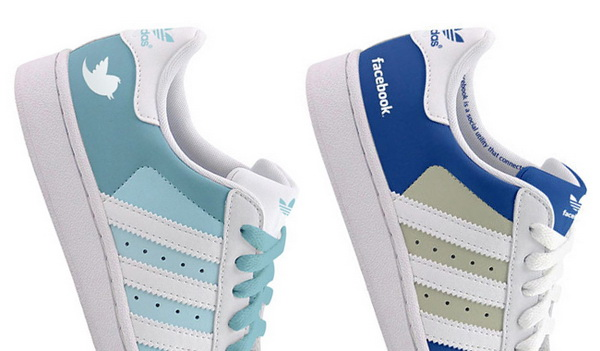 Adidas Superstars X Facebook & Twitter