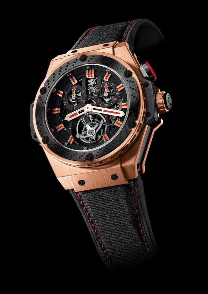 Hublot F1 King Power Tourbillon King Gold Ceramic