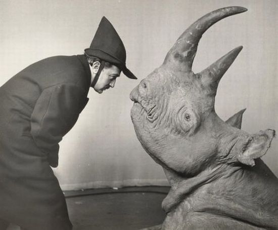 Salvador Dali and rhinoceros.jpg
