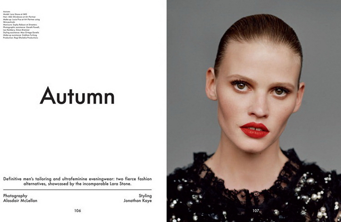 Лара Стоун для The Gentlewoman 12/13