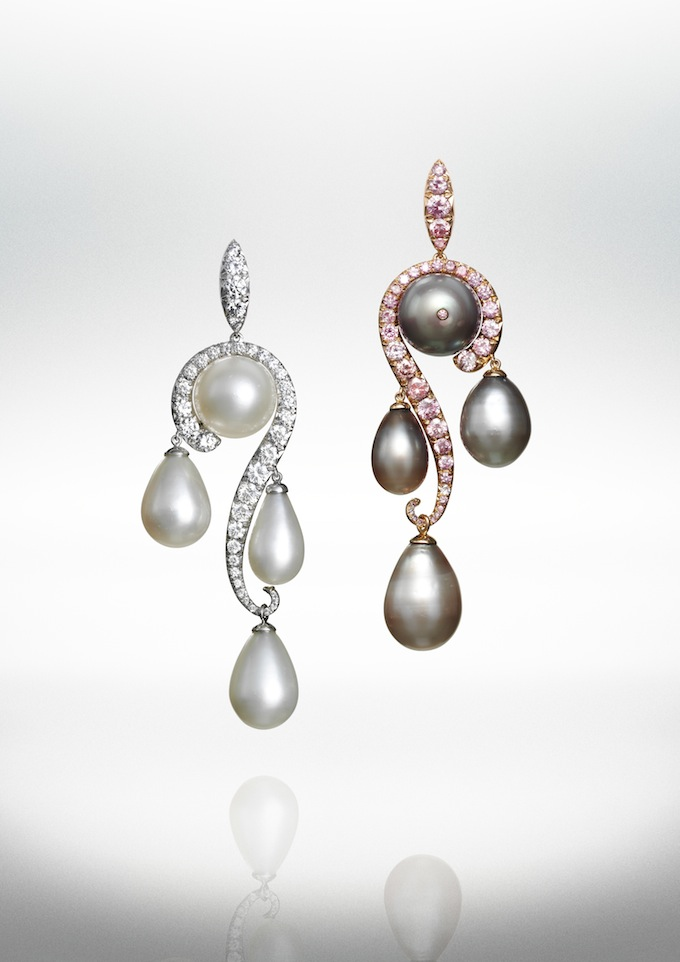 White and grey natural pearls and diamonds earrings.jpg