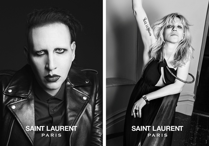Рок-музыканты в рекламной кампании Saint Laurent