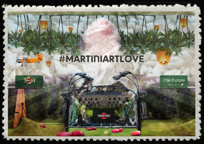 Martini Art Love