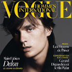 Алан Фабьен Делон на обложке Vogue Hommes International