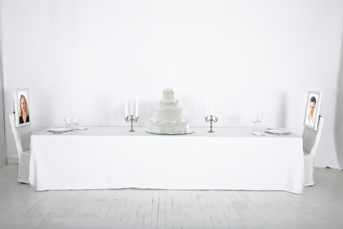Hovnanian_Rachel Lee_Dinner For Two; Moscow_2014_HD video monitors, rear projection on acrylic, chairs, wood, metal, mirror, styrofoam, plates, silverware, glass_Dimensions variable.jpg