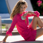Эдита Вилкевичуте в рекламе Juicy Couture
